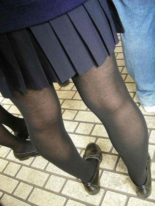 女子校生のミニスカに黒タイツが清楚かつエロく見える件 37枚 No.16