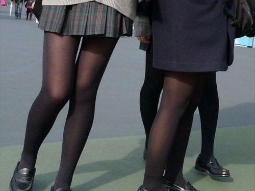 女子校生のミニスカに黒タイツが清楚かつエロく見える件 37枚 No.25