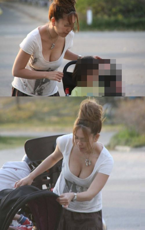 【画像】おっぱいが大きなギャルママの胸チラを盗撮したった! 44枚 No.36