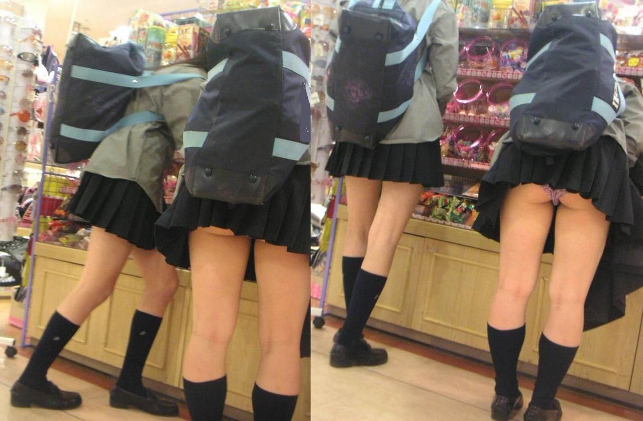 JC JK スカート 無修正 【エロ画像】ミニスカJKって斜め下からパンチラ盗撮簡単過ぎwww