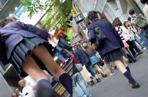 【エロ画像】ミニスカJKって斜め下からパンチラ盗撮簡単過ぎwww 40枚 part.13 No.6