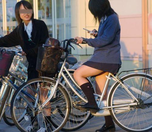 【盗撮画像】ミニスカJKが自転車乗って太ももやパンチラ見せてくる件! 38枚 part.2 No.19