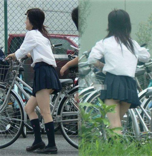 JKのオマタが自転車のサドルに乗っかってる画像でエロく妄想しようぜwww No.25