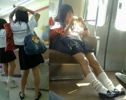 【画像】電車で向かい席にミニスカJKが座ったらとりあえず視姦しちゃうよなwwww 37枚 No.21
