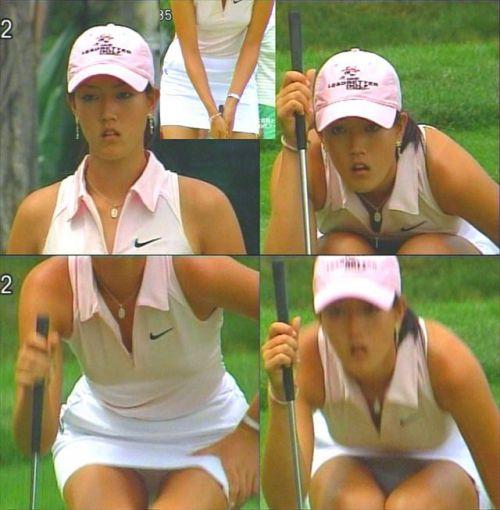 TVにゴルフのグリーンが映るとパンチラが気になっちゃうエロ画像 42枚 No.29