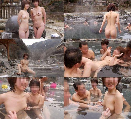 混浴露天風呂でオマンコやおっぱいを堂々と晒してるエロ画像 39枚 No.38