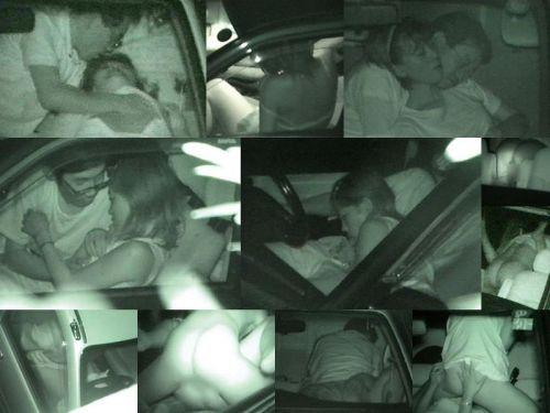 カーセックスしている素人カップルを赤外線カメラで盗撮したエロ画像 39枚 No.8