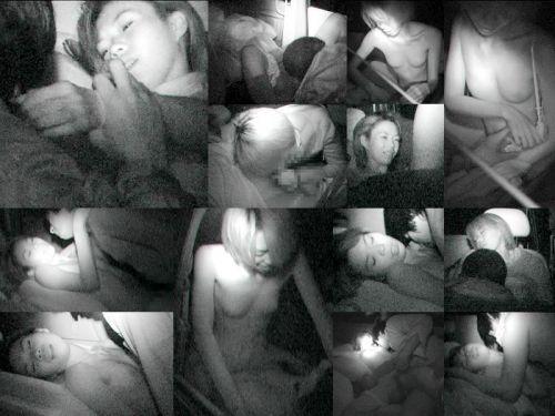 カーセックスしている素人カップルを赤外線カメラで盗撮したエロ画像 39枚 No.11