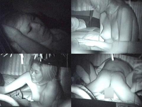 カーセックスしている素人カップルを赤外線カメラで盗撮したエロ画像 39枚 No.12
