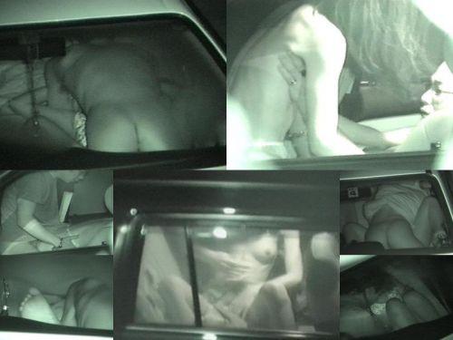 カーセックスしている素人カップルを赤外線カメラで盗撮したエロ画像 39枚 No.20