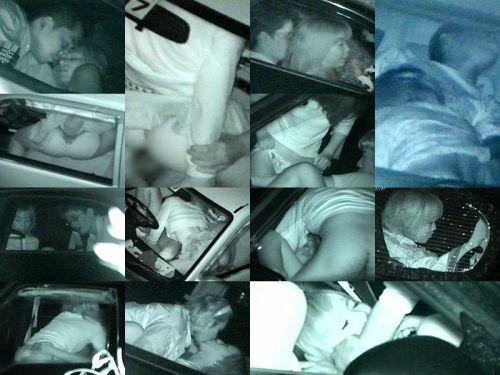 カーセックスしている素人カップルを赤外線カメラで盗撮したエロ画像 39枚 No.32