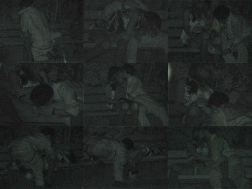 【エロ画像】野外セックス中のカップルを赤外線カメラで盗撮した結果www 33枚 No.9