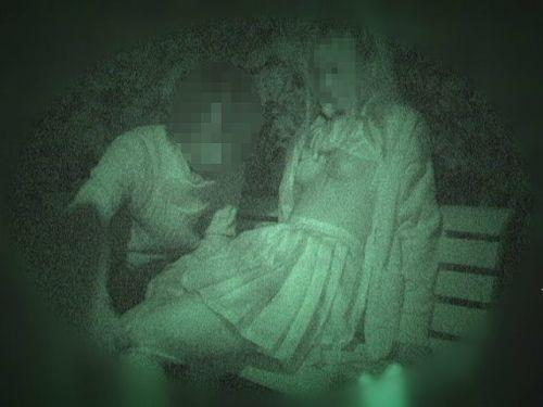 【エロ画像】野外セックス中のカップルを赤外線カメラで盗撮した結果www 33枚 No.27