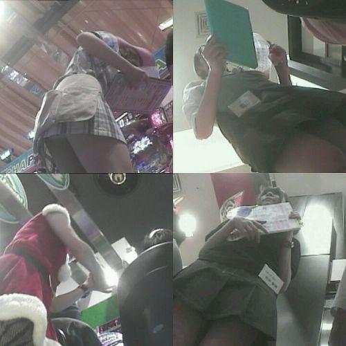 パチンコ屋のホールレディーのパンチラを逆さ撮りした盗撮画像 41枚 No.8