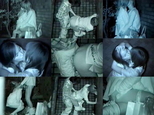 野外で後背位セックスしてるカップルを赤外線カメラで盗撮したエロ画像www 34枚 No.10