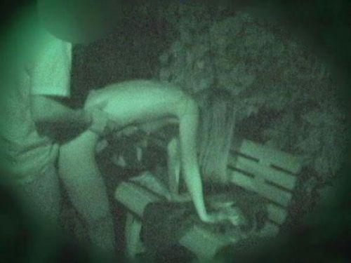 野外で後背位セックスしてるカップルを赤外線カメラで盗撮したエロ画像www 34枚 No.12