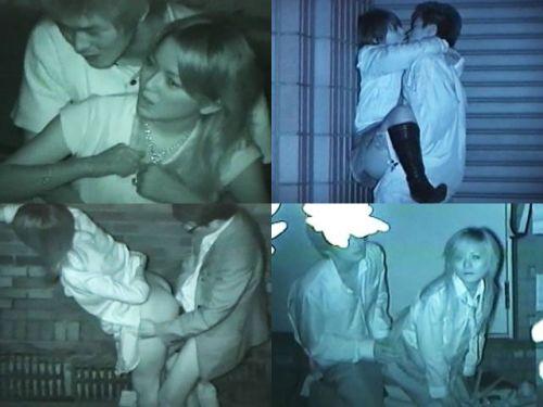 野外で後背位セックスしてるカップルを赤外線カメラで盗撮したエロ画像www 34枚 No.28