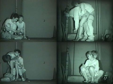 野外で後背位セックスしてるカップルを赤外線カメラで盗撮したエロ画像www 34枚 No.32
