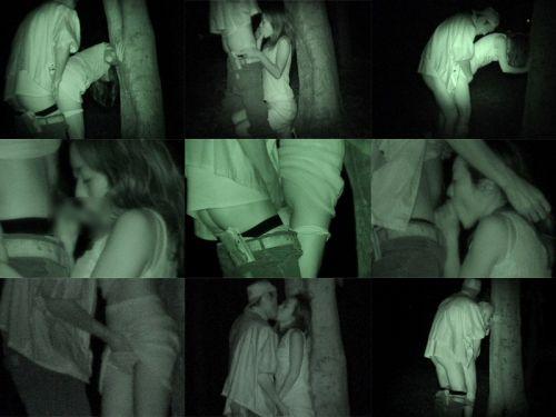 野外で後背位セックスしてるカップルを赤外線カメラで盗撮したエロ画像www 34枚 No.34