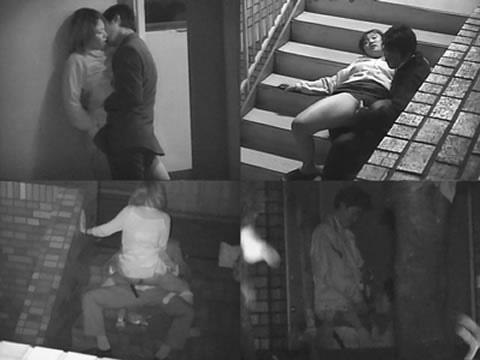 野外で騎乗位セックスしているカップルを赤外線カメラで盗撮エロ画像 45枚 No.4