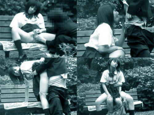 野外で騎乗位セックスしているカップルを赤外線カメラで盗撮エロ画像 45枚 No.18