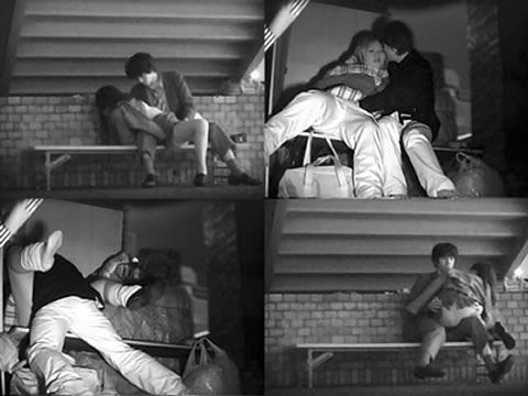 野外で騎乗位セックスしているカップルを赤外線カメラで盗撮エロ画像 45枚 No.20