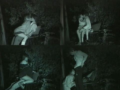 野外で騎乗位セックスしているカップルを赤外線カメラで盗撮エロ画像 45枚 No.25