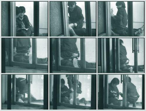 野外で騎乗位セックスしているカップルを赤外線カメラで盗撮エロ画像 45枚 No.33
