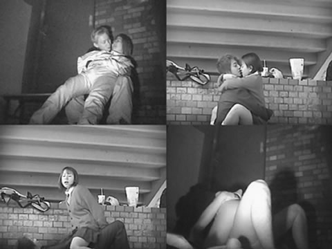 野外で騎乗位セックスしているカップルを赤外線カメラで盗撮エロ画像 45枚 No.39