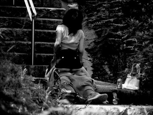 野外で騎乗位セックスしているカップルを赤外線カメラで盗撮エロ画像 45枚 No.41