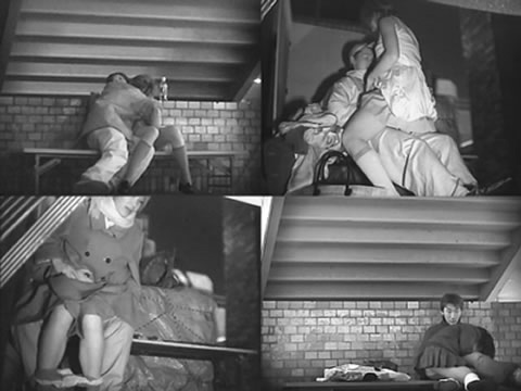 野外で騎乗位セックスしているカップルを赤外線カメラで盗撮エロ画像 45枚 No.42