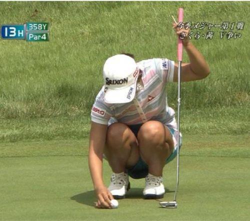 女子プロゴルファーのお宝パンチラ・太ももたっぷりエロ画像まとめ 39枚 No.8
