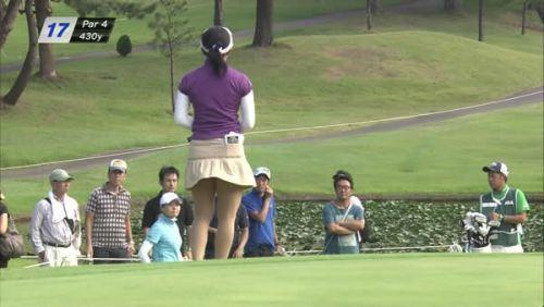 女子プロゴルファーのお宝パンチラ・太ももたっぷりエロ画像まとめ 39枚 No.10