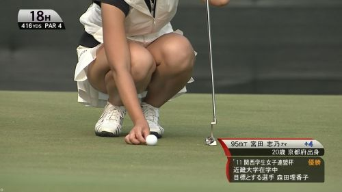 女子プロゴルファーのお宝パンチラ・太ももたっぷりエロ画像まとめ 39枚 No.31
