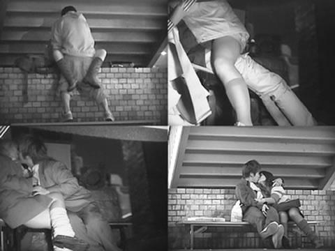 赤外線カメラで野外正常位セックス中のカップルを盗撮したエロ画像 45枚 No.3