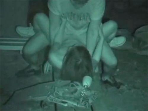 赤外線カメラで野外正常位セックス中のカップルを盗撮したエロ画像 45枚 No.6