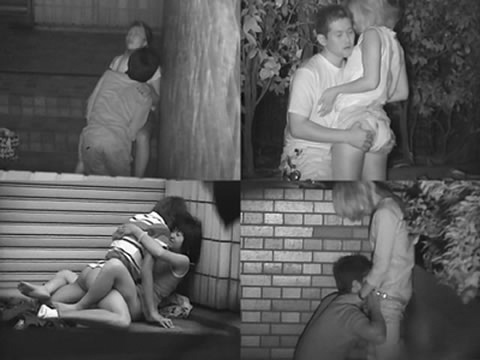 赤外線カメラで野外正常位セックス中のカップルを盗撮したエロ画像 45枚 No.9
