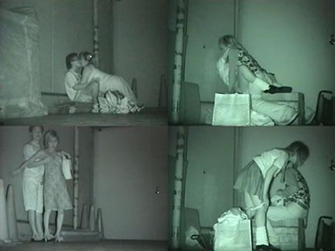 赤外線カメラで野外正常位セックス中のカップルを盗撮したエロ画像 45枚 No.24