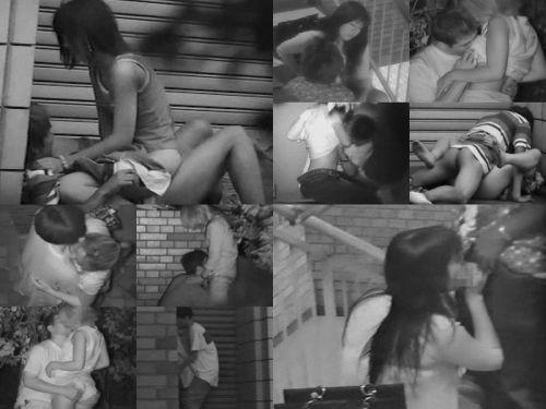 赤外線カメラで野外正常位セックス中のカップルを盗撮したエロ画像 45枚 No.32