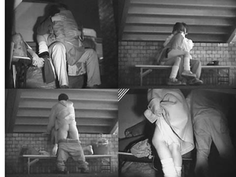 赤外線カメラで野外正常位セックス中のカップルを盗撮したエロ画像 45枚 No.37