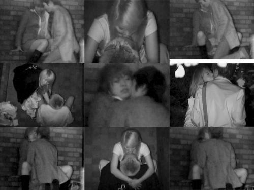 赤外線カメラで野外正常位セックス中のカップルを盗撮したエロ画像 45枚 No.40