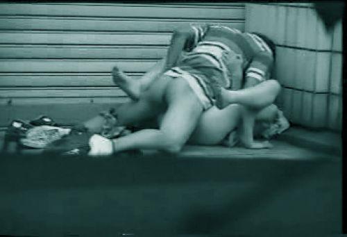 赤外線カメラで野外正常位セックス中のカップルを盗撮したエロ画像 45枚 No.43