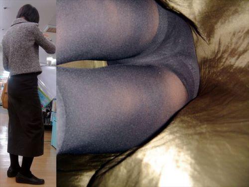 黒ストッキングを履いた人妻や熟女限定!逆さ撮り盗撮画像まとめ 42枚 No.10