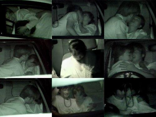 【画像】カーセックスしているバカップルを赤外線カメラで盗撮したったwww 38枚 No.8