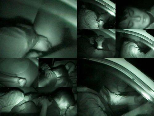 【画像】カーセックスしているバカップルを赤外線カメラで盗撮したったwww 38枚 No.26