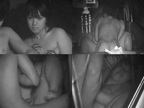 【画像】カーセックスしているバカップルを赤外線カメラで盗撮したったwww 38枚 No.28