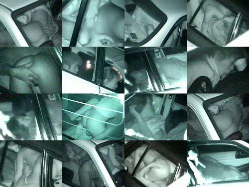 【画像】カーセックスしているバカップルを赤外線カメラで盗撮したったwww 38枚 No.29