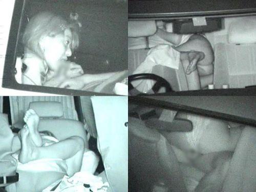 【画像】カーセックスしているバカップルを赤外線カメラで盗撮したったwww 38枚 No.30