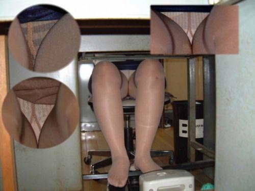OLの机の下のパンストとパンチラをこっそり盗撮したエロ画像まとめ 56枚 No.23