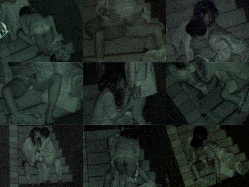 【盗撮画像】若いカップルの野外セックスが赤外線カメラで丸見えだわwww 32枚 No.2